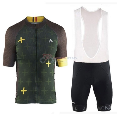 2018 Craft Monument Cycling Jersey Kit Short Sleeve Spento Green