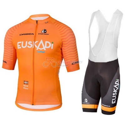 2018 Euskadi Cycling Jersey Kit Short Sleeve Orange