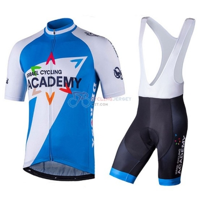2018 Israel Cycling Academy Cycling Jersey Kit Short Sleeve White and Blue