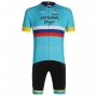 Astana Cycling Jersey Kit Short Sleeve 2020 Campione Russia
