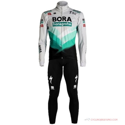 Bora-hansgrone Cycling Jersey Kit Long Sleeve 2021 White