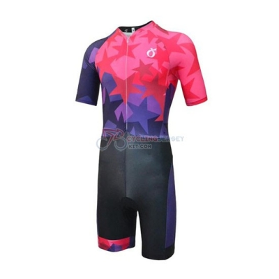 Emonder-triathlon Cycling Jersey Kit Short Sleeve 2019 Red Fuchsia Black