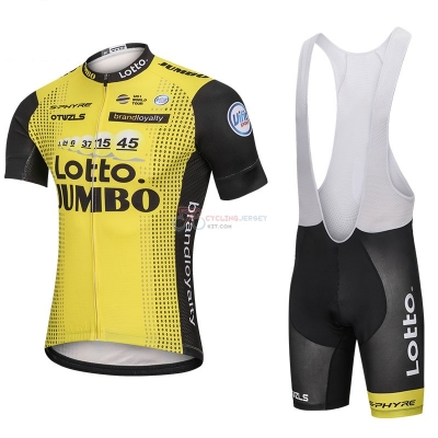 Lotto Nl Jumbo Cycling Jersey Kit Short Sleeve 2018 Yellow