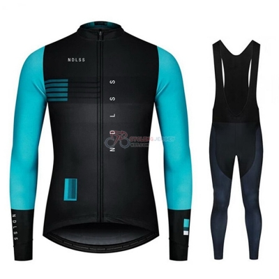 NDLSS Cycling Jersey Kit Long Sleeve 2020 Black Light Blue