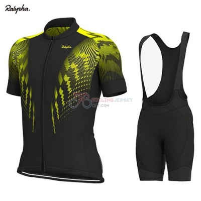 Rapha Cycling Jersey Kit Short Sleeve 2019 Black Yellow