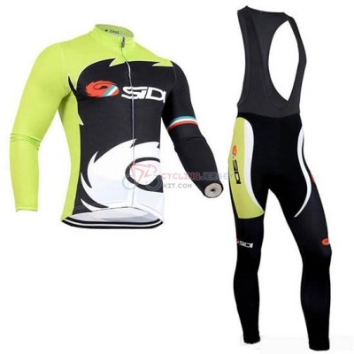 Rock Racing SIDI Cycling Jersey Kit Long Sleeve 2019 Black Green