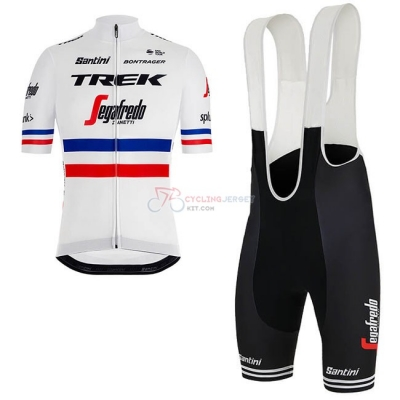 a8d46c272 Trek Segafredo Campione France Cycling Jersey Kit Short Sleeve 2018 White