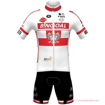 Wallonie Bruxelles Cycling Jersey Kit Short Sleeve 2021 White