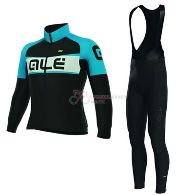 Women ALE Long Sleeve Cycling Jersey and Bib Pant Kit 2017 black and blue
