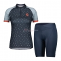 Women Scott Cycling Jersey Kit Short Sleeve 2021 Gray Blue