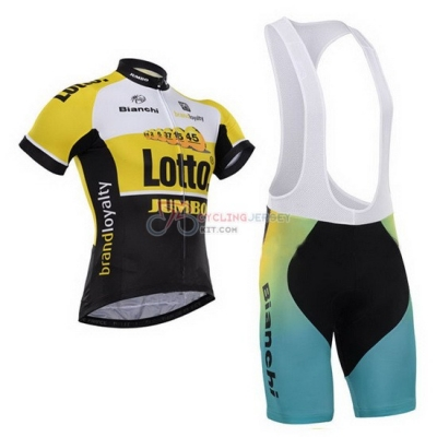 Lotto Cycling Jersey Kit Short Sleeve 2015 Black And Yellow