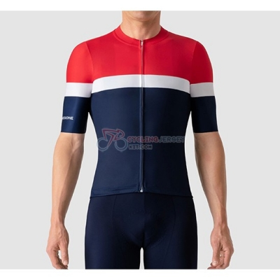La Passione Cycling Jersey Kit Short Sleeve 2019 Red White Blue