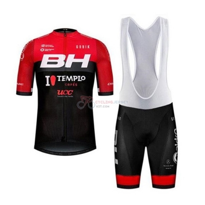 BH Templo Cafes UCC Cycling Jersey Kit Short Sleeve 2020 Black Red