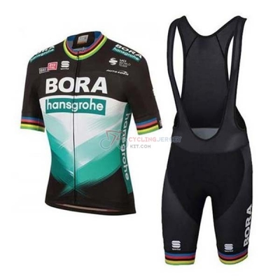 Bora-hansgrone Cycling Jersey Kit Short Sleeve 2020 Green Black