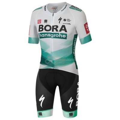 Bora-hansgrone Cycling Jersey Kit Short Sleeve 2020 White Green