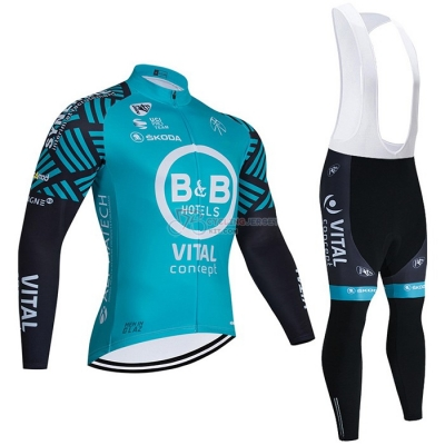 Concept-bb Hotels Cycling Jersey Kit Long Sleeve 2021 Light Blue