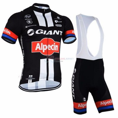 Giant Alpecin Cycling Jersey Kit Short Sleeve 2021 Black White