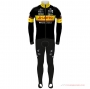 Lotto-kern Haus Cycling Jersey Kit Long Sleeve 2021 Black Yellow