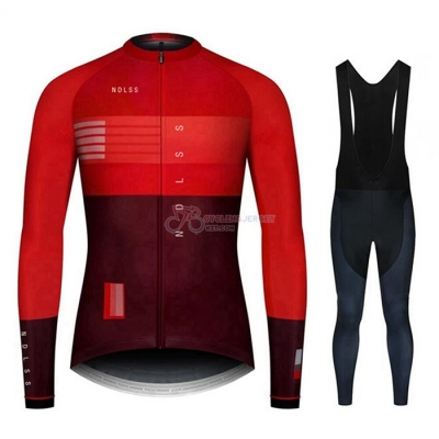 NDLSS Cycling Jersey Kit Long Sleeve 2020 Dark Red