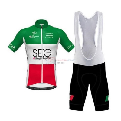 SEG Racing Academy Cycling Jersey Kit Short Sleeve 2020 Campione Italy