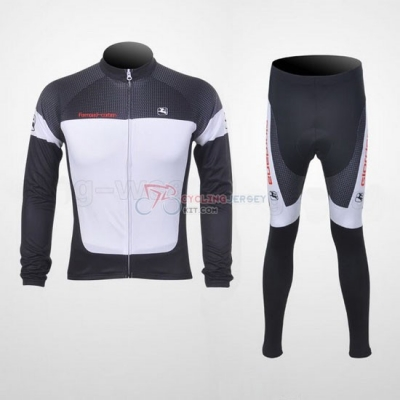 Giordana Cycling Jersey Kit Long Sleeve 2011 White And Black