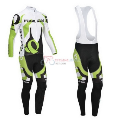 Pearl Izumi Cycling Jersey Kit Long Sleeve 2013 White And Green