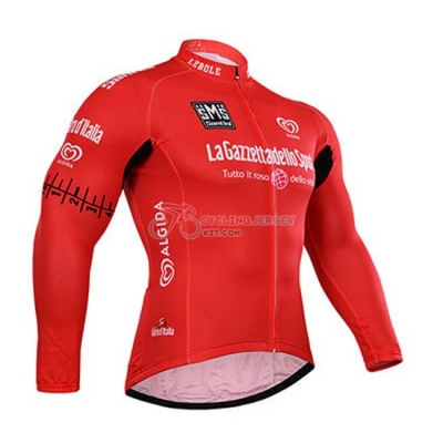 Giro D'Italia Cycling Jersey Kit Long Sleeve 2015 Red