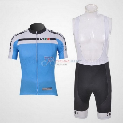 Giordana Cycling Jersey Kit Short Sleeve 2011 White And Sky Blue