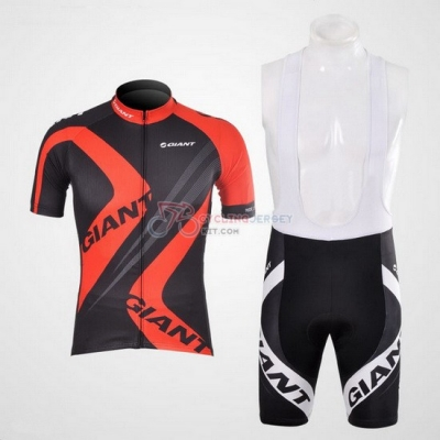 Giant Cycling Jersey Kit Short Sleeve 2012 Black And Red