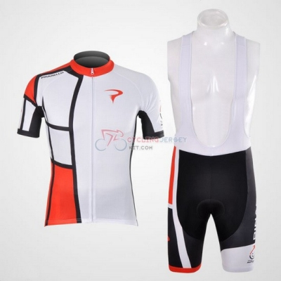 Pinarello Cycling Jersey Kit Short Sleeve 2012 Red And White