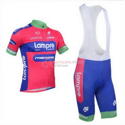 Lampre Cycling Jersey Kit Short Sleeve 2013 Pink And Sky Blue