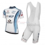 2014 Team MLP Team Bergstrasse white Short Sleeve Cycling Jersey And Bib Shorts Kit