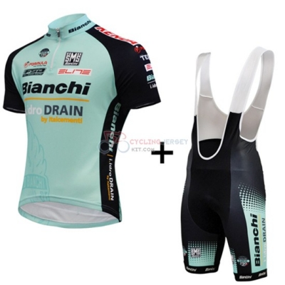 Bianchi Cycling Jersey Kit Short Sleeve 2015 Black And Green