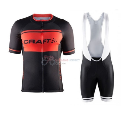 Craft Cycling Jersey Kit Short Sleeve 2016 Black And Orange