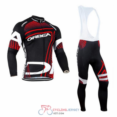 2017 Orbea Cycling Jersey Kit Long Sleeve red and black