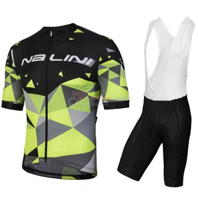 2018 Nalini Ahs Discesa Cycling Jersey Kit Short Sleeve Black and Green