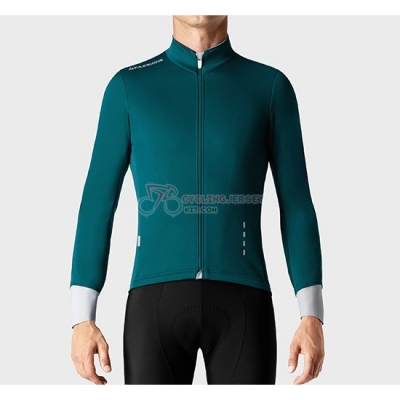 La Passione Cycling Jersey Kit Long Sleeve 2019 Green White