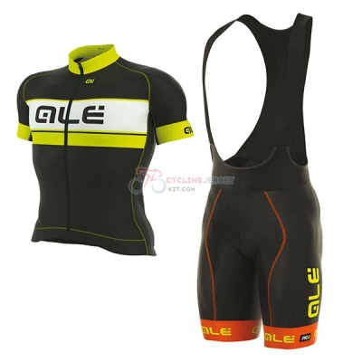 ALE Graphics Prr Bermuda Short Sleeve Cycling Jersey and Bib Shorts Kit 2017 black and yellow