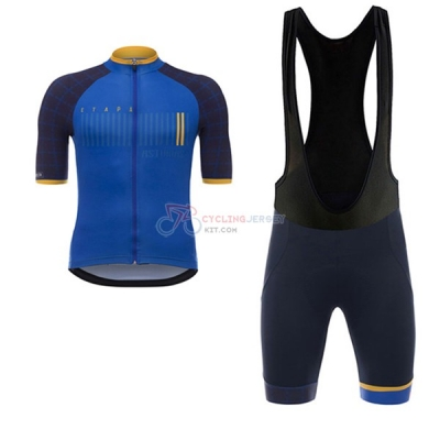 Asturias Vuelta Espana Short Sleeve Cycling Jersey and Bib Shorts Kit 2017 blue