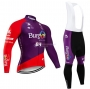 Burgos BH Cycling Jersey Kit Long Sleeve 2020 Purple Red