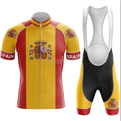 Campione Spain Cycling Jersey Kit Short Sleeve 2020 Red Yellow