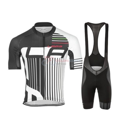 Lungo Ao Cycling Jersey Kit Short Sleeve 2019 Black White