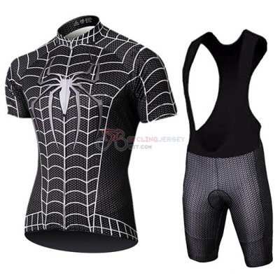 Marvel Heros Spider Man Cycling Jersey Kit Short Sleeve 2019 Black