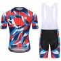 Steep Cycling Jersey Kit Short Sleeve 2021 Red Blue