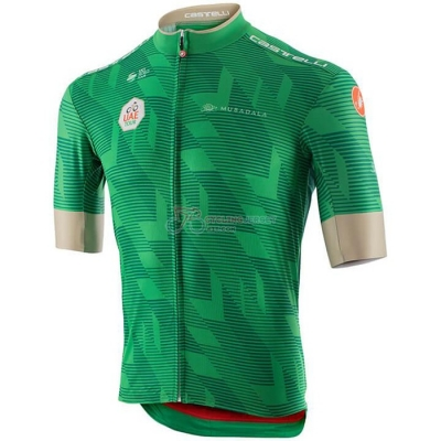 UAE Tour Cycling Jersey Kit Short Sleeve 2020 Green