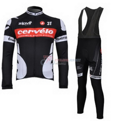 Cervelo Cycling Jersey Kit Long Sleeve 2010 White And Black