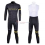 Livestrong Cycling Jersey Kit Long Sleeve 2012 Black And Yellow