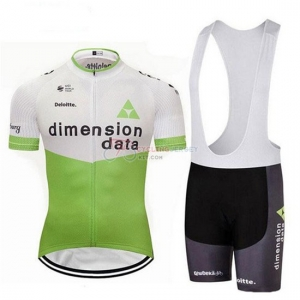 25292514 2018 Dimension Data Cycling Jersey Kit Short Sleeve White and Green ...