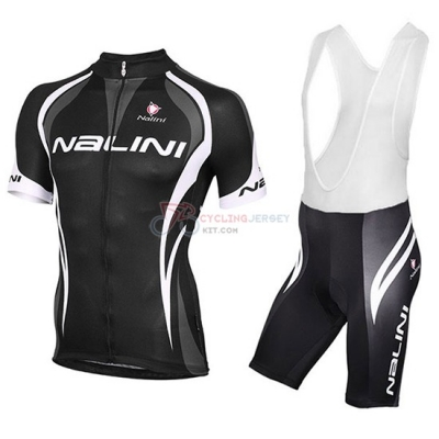 2018 Nalini Cycling Jersey Kit Short Sleeve Black and White