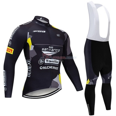 Trek Selle San Marco Cycling Jersey Kit Long Sleeve 2020 Black Yellow